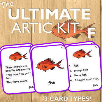 Articulation Cards for F: The Ultimate Artic Kit!