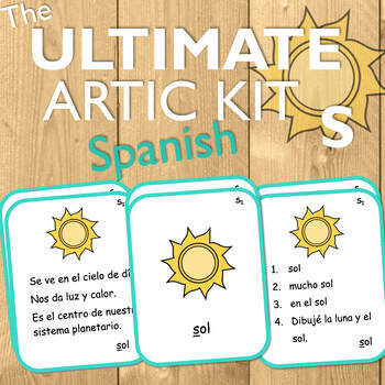 Spanish Articulation Cards for S: The Ultimate Artic Kit!