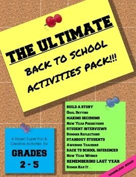 The Ultimate Back to School Activities Pack!!!