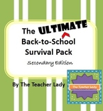The Ultimate Back to School Pack - Secondary Edition
