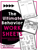 Behavior Worksheets   Expected and Unexpected Behavior Worksheets