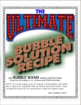 The Ultimate Bubble Solution Recipe!