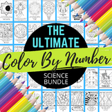 Science Color By Number Bundle - Science Distance Learning | Independent Work