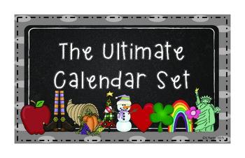 The Ultimate Calendar Set Gray Polka-dots