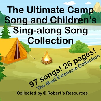 The Ultimate Camp Song and Children's Sing-along Song Collection - 97 Songs!