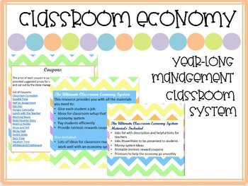 Year-Long Classroom Economy and Management System