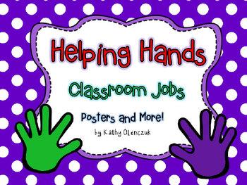 Classroom Jobs Display (**EDITABLE**)