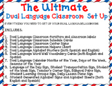 The Ultimate Dual Language Classroom Set Up Bundle: EDITABLE Gomez and Gomez