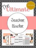 The Ultimate EDITABLE Teacher Planner Binder Calendar (Pink, Gray, Gold)