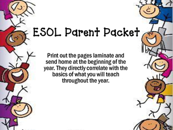 The Ultimate ESOL Parent Packet