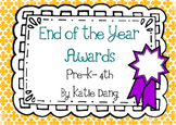 The Ultimate End of the Year Awards Bundle (editable)