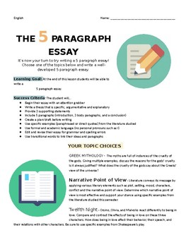 The Ultimate Essay Handout