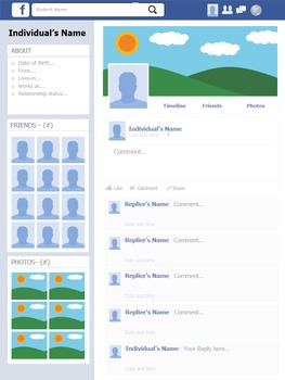 Facebook Biography Activity: Two Dynamic Versions for Any Historical Figure!