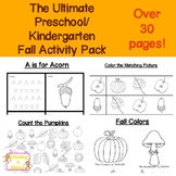 The Ultimate Fall Preschool Printable Activity Pack