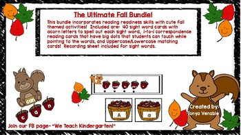 The Ultimate Fall Themed Reading Readiness Bundle!
