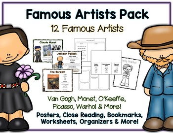 The Ultimate Famous Artists Pack - Posters, Close Reading & More - 183+ Pages