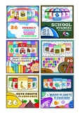The Ultimate Montessori Flash Cards BUNDLE - Alphabet, Numbers, Shapes, Fruits..