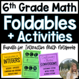 6th Grade Math Foldable & Activity Bundle for Interactive Math Notebooks