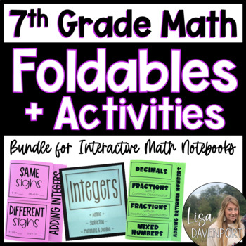 The Ultimate Foldable & Activity Bundle for 7th Grade Math!