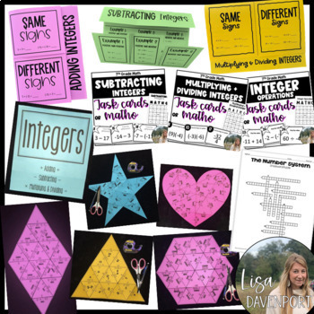7th Grade Math Foldable & Activity Bundle for Interactive Notebooks