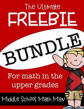 The Ultimate Freebie Bundle - Math in the Upper Grades