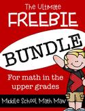 The Ultimate Freebie Bundle - Math in the Upper Grades