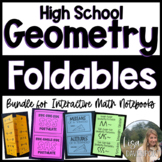 Geometry  Foldable Bundle for Interactive Notebooks