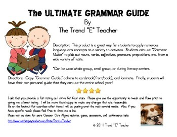 The Ultimate Grammar Guide Must Have!