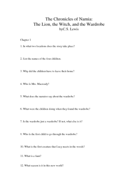 The Ultimate Guide for The Lion, the Witch, and the Wardrobe