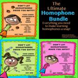 The Ultimate Homophone Task Card Bundle