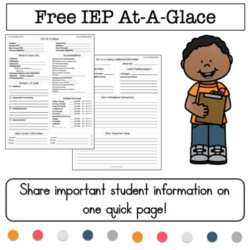 The Ultimate IEP At-A-Glance (AKA IEP Snapshot)