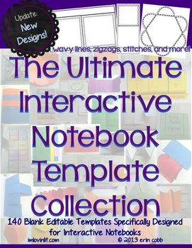 Interactive notebook templates by lovin lit teachers pay teachers interactive notebook templates pronofoot35fo Gallery