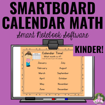 Interactive Calendar Math for SMART Board ~Kindergarten~