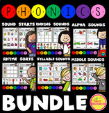Phonics Introductory Ultimate Bundle! Syllables! Rhyming! Letter Sounds!