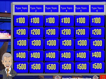 $1.75 The Ultimate Jeopardy Powerpoint Game Template (Simple Edit)