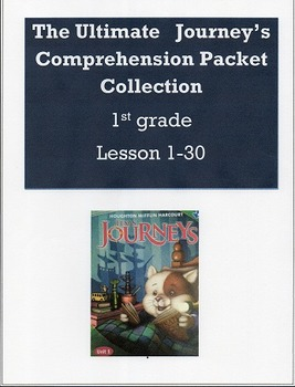 The Ultimate Journeys Comprehension Packet Collection Less