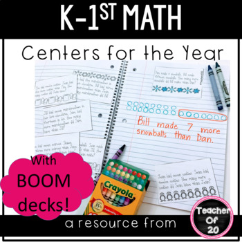 The Ultimate K-1st Math Centers Bundle {230+ pages of game