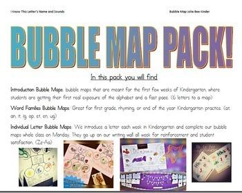 Alphabet & Word Families Bubble Map Pack