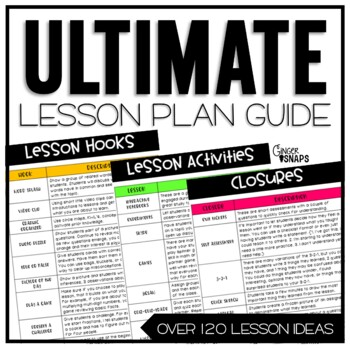 The Ultimate Lesson Plan Guide