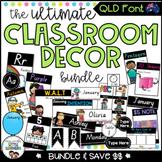QLD Font Classroom Decor Bundle