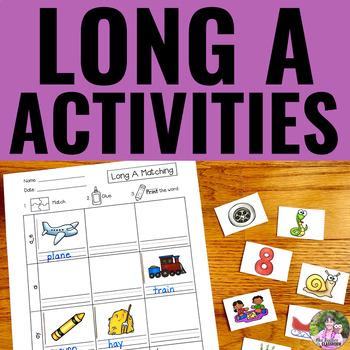 Long Vowels: LONG A Activities