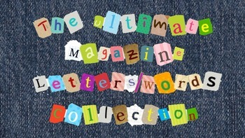 The Ultimate Magazine Letters/Words Collection