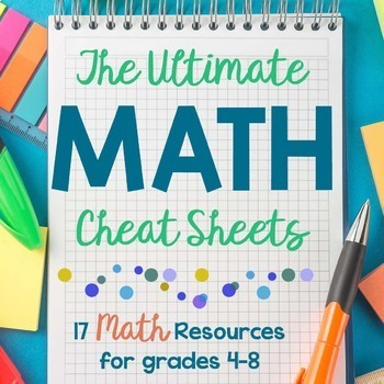 The Ultimate Math Cheat Sheets by Learn in Color | TpT