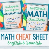 The Ultimate Math Cheat Sheets in English and Spanish