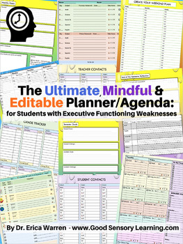 The Ultimate, Mindful and Editable Planner/Agenda