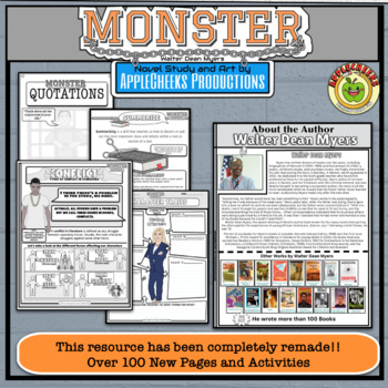 (Sale) The Ultimate Monster Novel Study  (Walter Dean Myers) with PowerPoint