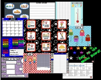 August-December 5 MONTH, Ultimate Morning Calendar for SMART board