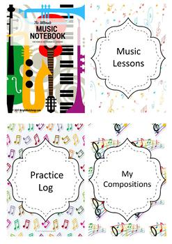 The Ultimate Music Notebook for Voice and Instrumental Lessons (Pastel Theme)