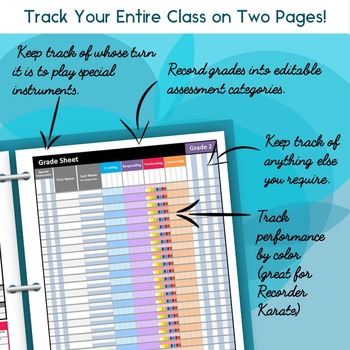 the ultimate music teacher gradebook by gograde tpt