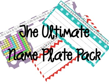 The Ultimate Name Plates Pack